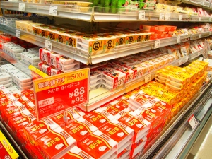 Natto section at a Japanese supermarket